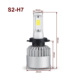 Car parts auto parts 36W 6000k S2 H7 single beam led headlight with high bright