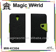 2014 new Clamshell Leather mobile phone case for samsung galaxy s4