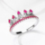 Wholesale fashion micro pave green rhinestone stone crown rings for women