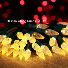 Most popular battery C6 strawberry Christmas light IP65 waterproof string light 50L decorative led lights halloween