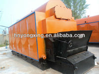Horizontal Automatic chain steam boiler with chimney