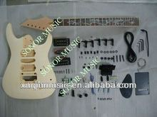 High Quality Unfinished DIY Electric Guitar Kits