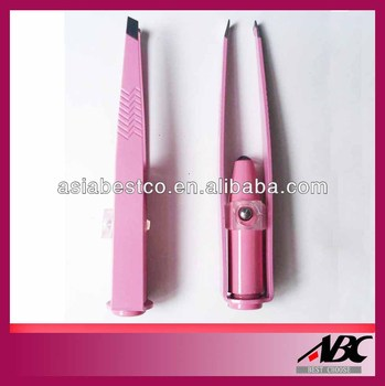 Pink led light tweezers