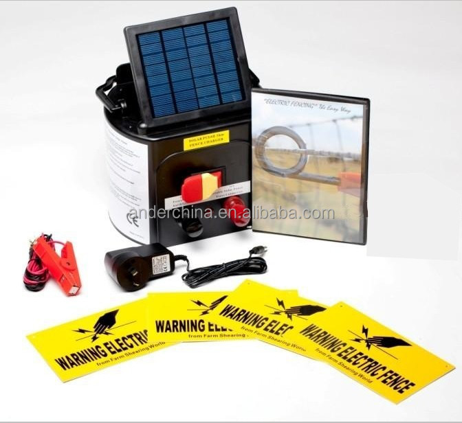 Farm Pet Animal Solar Electric Fence Energiser Energizer Power Charger 0.15J