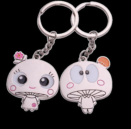 kiss boy and girl keychain