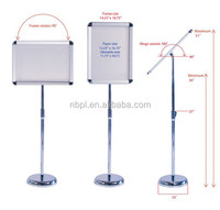A3/A4 telescopic menu board outdoor menu stand hotel sign lobby display stand