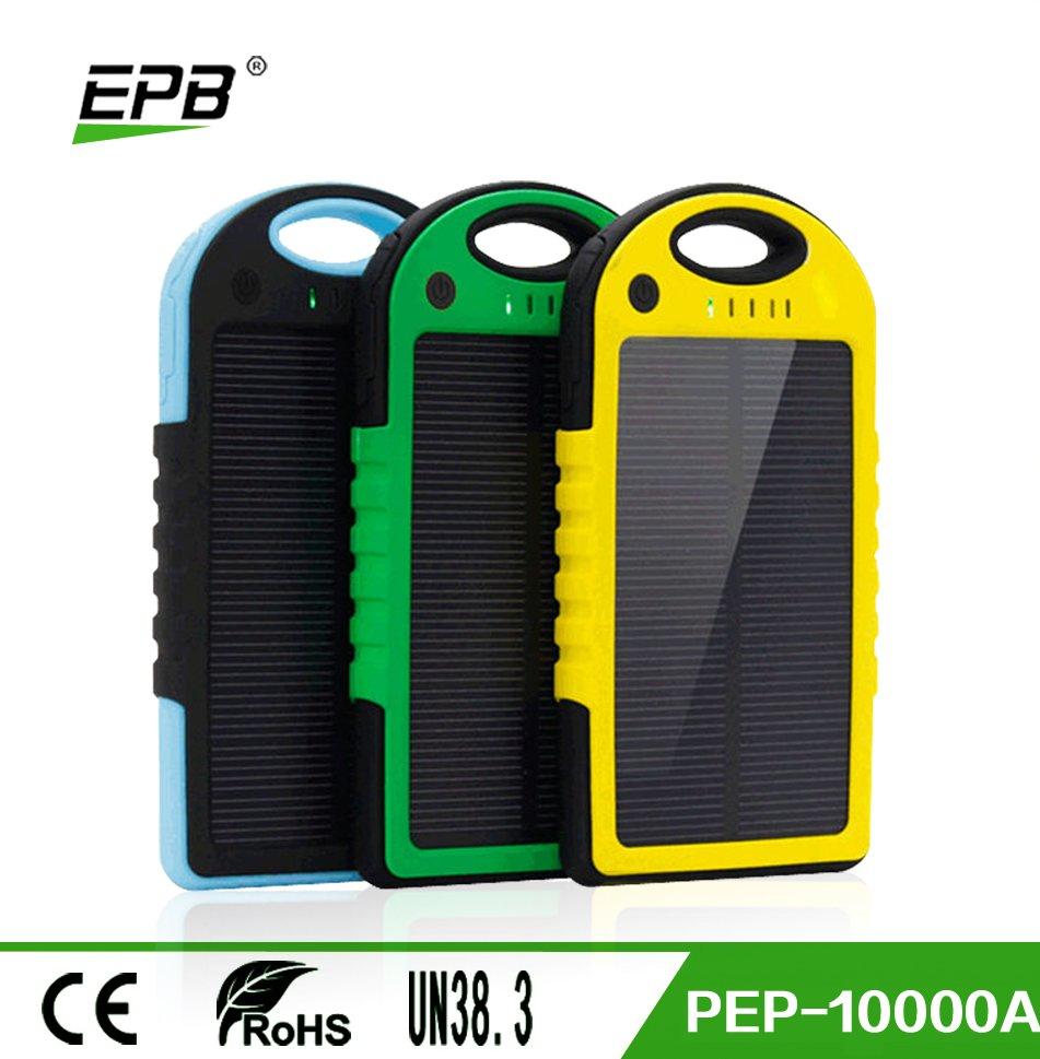 5000mah Waterproof Solar Power Bank Portable mobile Charger for mobile phone
