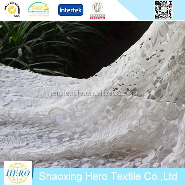 China wholesale wedding dress use 100%nylon chemical 3d lace fabric