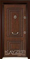 Steel Door Rustic Walnut Panel