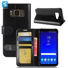For Samsung Galaxy S8 Active Crazy Horse Texture Horizontal Flip Leather Case with Holder & Card Slots & Wallet & Photo Frame