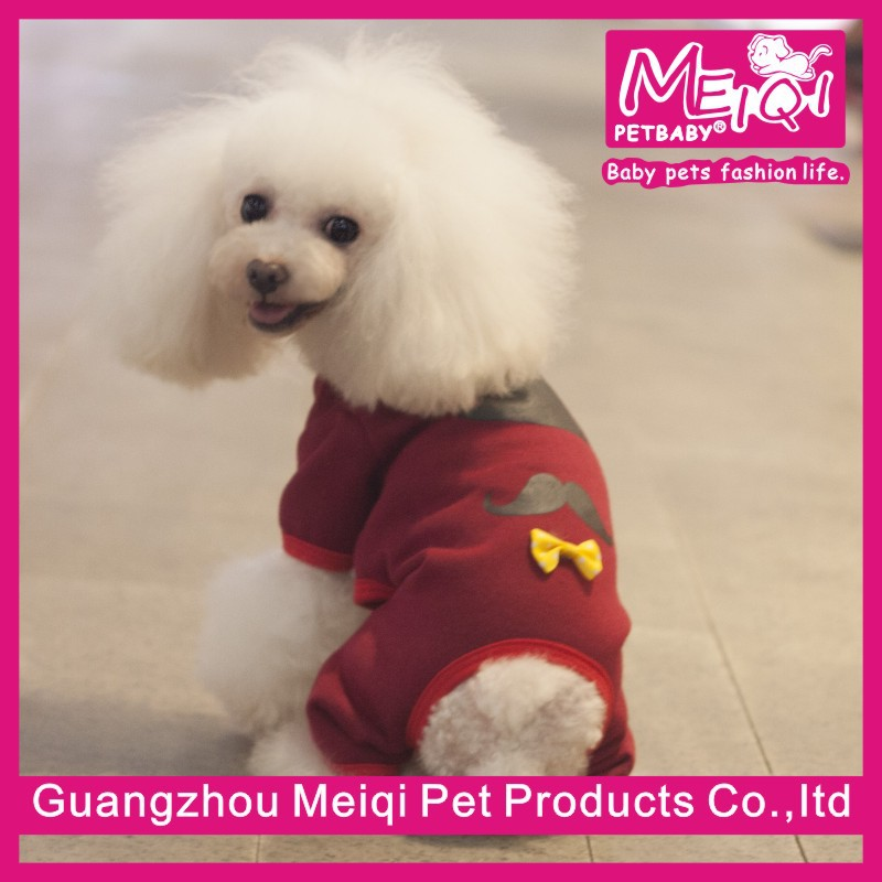 New Chines Hot Design Mr Big Beard Autumn Dog Jumpsuit Hot Pet Clothes