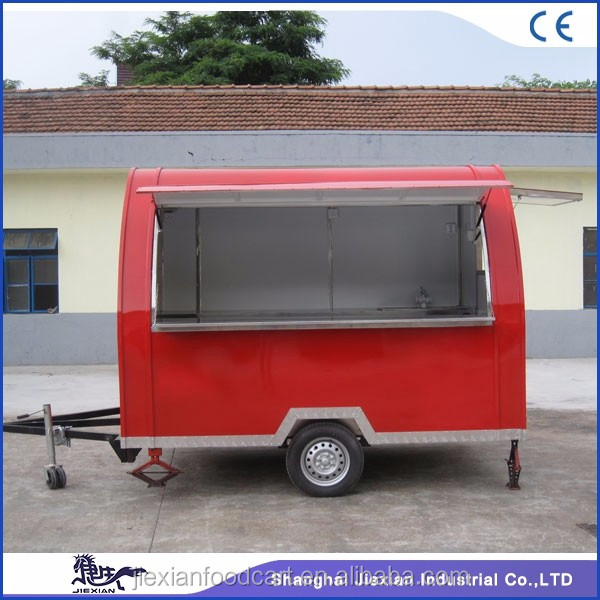 JX-FS290B Shanghai bakery food cart trailer for sale with ice cream machine grill hot dog machine