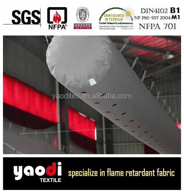 100% inherently flame retardant anion fabric air duct