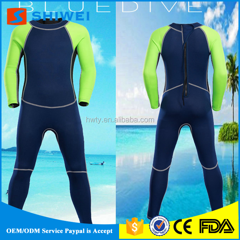 SHIWEI-8012#Wohlesale 2mm Neoprene keep warm diving suit for kids