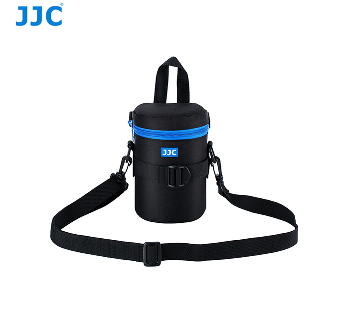 JJC with Shoulder strap Water Resistant Protective Neoprene Pouch for DSLR Camera Lens