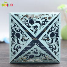 2017 hot sale customized wedding supplies laser cut sample frame in invitation cards