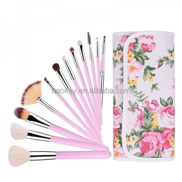portable professional makeup brushes 12 PCS Makeup Brush Set with leather case