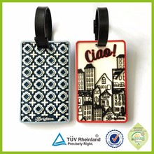 Name tags silicon plastic wholesale custom rubber hotel luggage tag