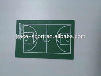 Polyurethane basketball court top materials