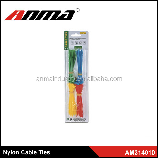 RoHS certification Colorful Nylon Cable Ties for Wire Tension Device