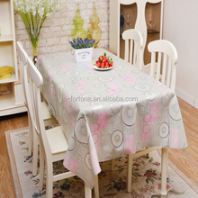 oilproof and waterproof table cover printed PVC film from china factory