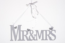MR&MRS white Wooden letter hanging great wedding decoration