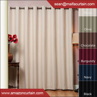 Latest New Models 2016 New Design Window Curtain Shaoxing Textile Curtain With Blackout Grommet Curtain Panel