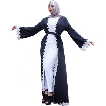 modern lady's abaya high quality soft crepe dress 2019