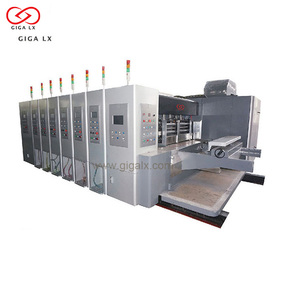 automatic flexography printing machine with die cutting