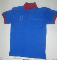 BlueT shirt with logo embroidery $ 3.99 ( ISO 9001 Standerd Fabrics )