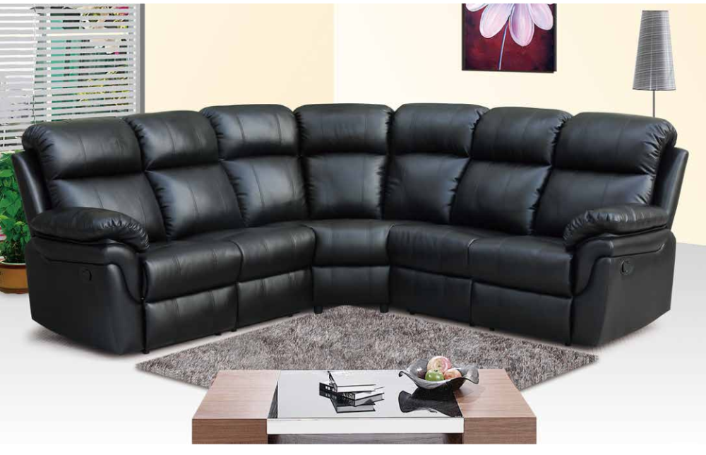 living room recliner sectional sofa/ Bonded Leather corner sofa