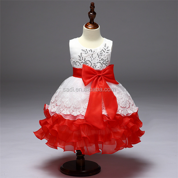 Wholesale sleevesless Kids wedding dress Lace New girl wedding dress