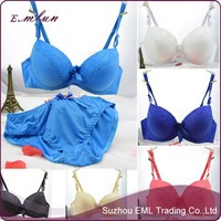 Export 2015 hot sale 3/4 cup glaze sexy girl panty bra