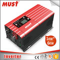 LCD display pure sine wave best inverter charger 1KW to 6KW 12V 24V 48V support generator auto and BTS