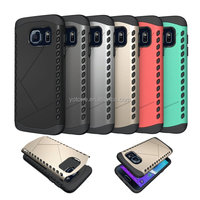 2 in 1 mobile phone TPU shock proof slim armor case hard cover for samsung galaxy s7 plastic case
