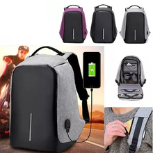 2017 latest School USB Charge Anti theft Laptop Backpack bag for Men and Women Mochila