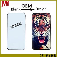 custom embossed relief printing case for samsung thick tpu material phone cover