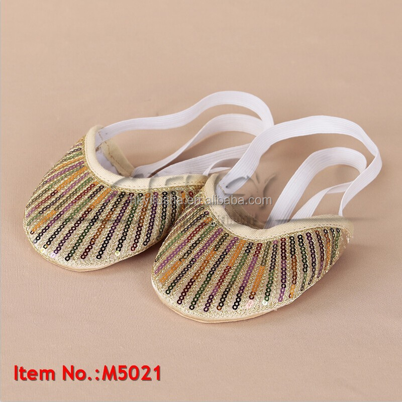 Hot selling tribal paillettes belly dancing shoes for women