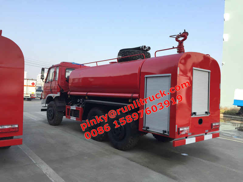 Off Road 6x6 Fire Water Tanker Truck With Fire Monitor Water Truck For Sales