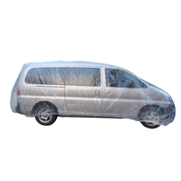 PE plastic automatic temporary car cover