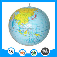 Free samples inflatable globe ball toys for kids