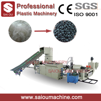 waste plastic recycling pelleting machine/plant