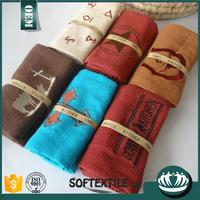 high quality polyester cotton fabric red white cleaning kitchen towel