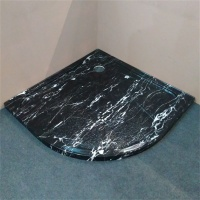 new products on china market cheap black acrylic shower tray