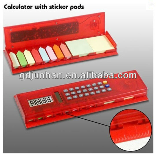 hot sale notes sticky with 8 inch ruler calculator