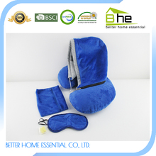 High Quality novelty inflatable travel kit eye mask neck pillow