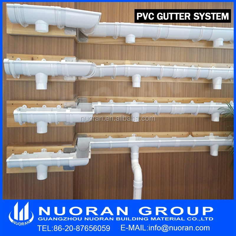 Top in china pvc rain gutter and pipe drainage system for One pipe drainage system