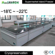 Supermarket Freezing Showcase Display Combined Ice Cream Solution Machine Island Freezer For Large Convenience Stores