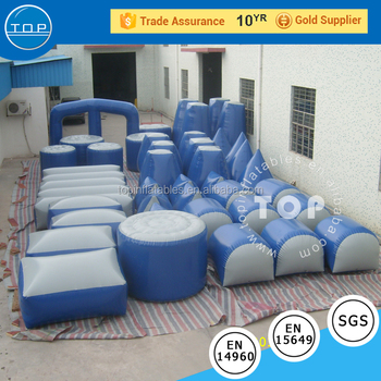 TOP interactive inflatable paintball Bunkers, teamwork ,shooting game