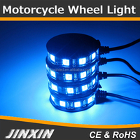 Jinxin (4) Multi Color Remote LED Motorcycle Wheel Pod Custom Accent Light Kit